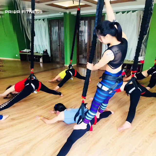New PRIOR FITNESS Aerial Yoga Cord Bungee Dance workout exercise Training Pilates Elastic Suspension Sling Trainer Pull Rope