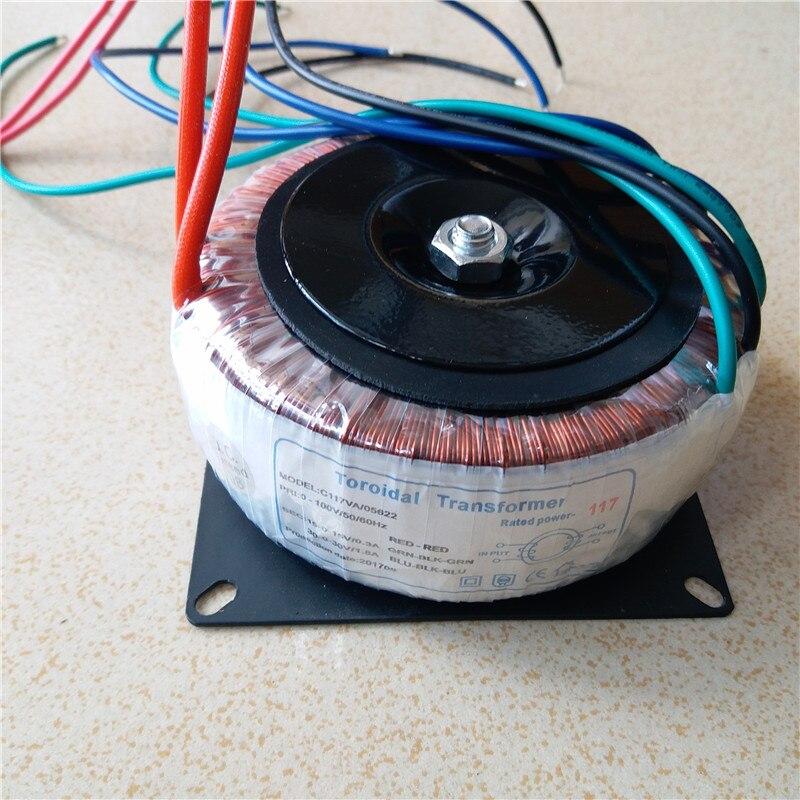 Ring transformer copper custom 100V input 120W toroidal transformer AC30V-0-30V 1.8A AC15V-0-15V 0.3A for power supply amplifierRing transformer copper custom 100V input 120W toroidal transformer AC30V-0-30V 1.8A AC15V-0-15V 0.3A for power supply amplifier