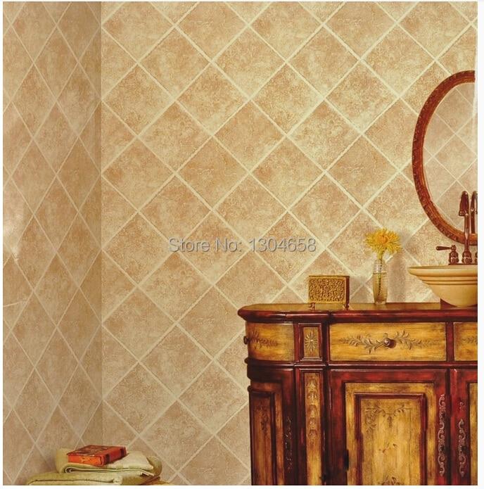 Us 10 4 48 Off Custom 3d Wallpaper Tile Pattern For Restaurant Kitchen Bathroom Cabinet Living Room Sofa Background Wallpaper In Wallpapers From