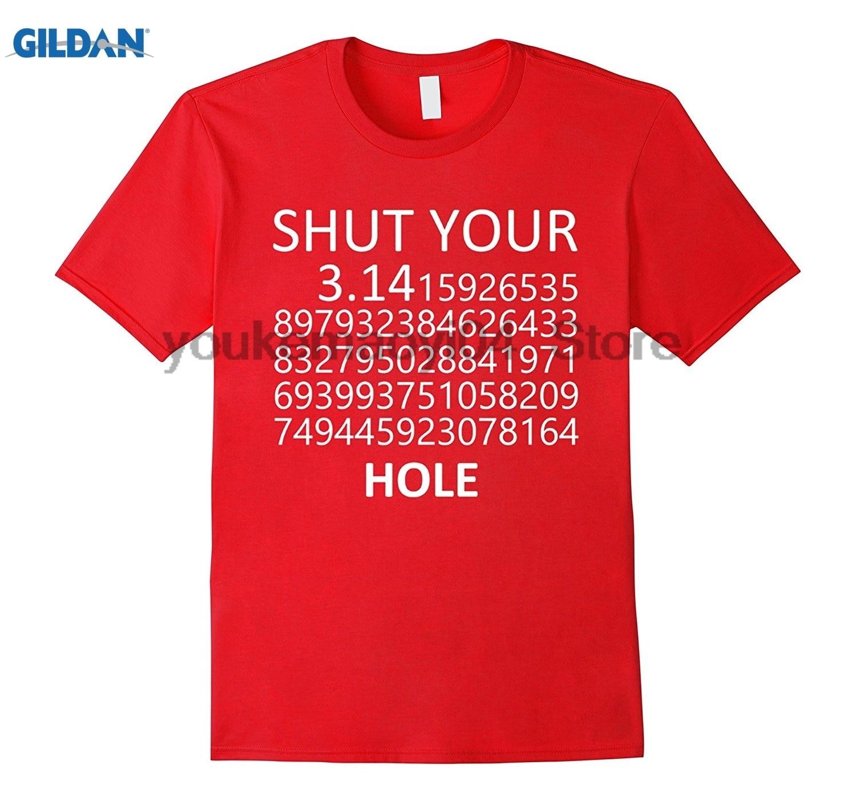 GILDAN Best Math and Scienc Shut Your Pi Hole I Love Science T-shirt