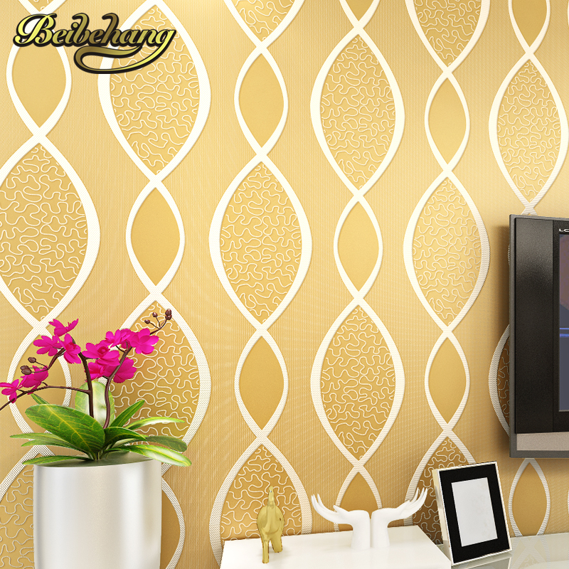 beibehang Wave Stripes modern wall paper purple & beige wall covering classic glitter wallpaper for walls living room background wallpaper for walls 3 d modern trdimensional geometry 4d tv background wall paper roll silver gray wallpapers for living room