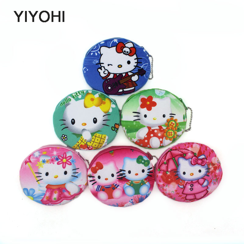 YIYOHI 2017 New Cute Colorful Kitty Girls Coin Purse Cute Plush Cartoon Small Massage Bag Women Mini Handbags Children Mini Bags manley teksta kitty mini 21738b