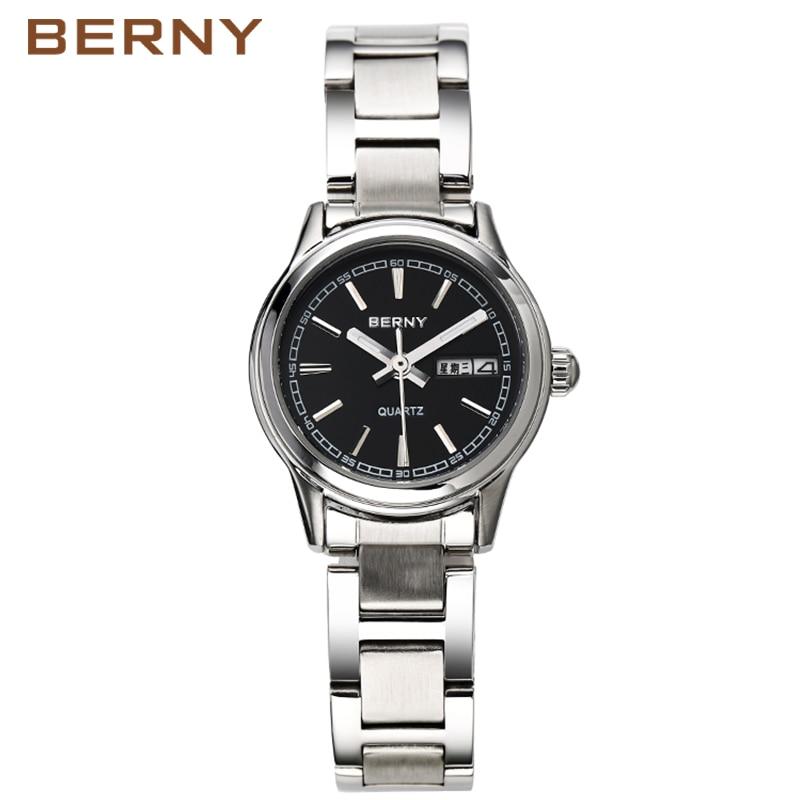 Berny Women Watch Quartz Lady Klockor Mode Topp Märke Luxury Relogio Saat Montre Horloge Feminino Bayan Femme Japanska Movement
