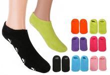 Spa Moisturizing Gel Socks Exfoliating Dry Cracked Soft Skin Sock Pedicure Hard Heel skin Protector Repairing Foot Care Tool