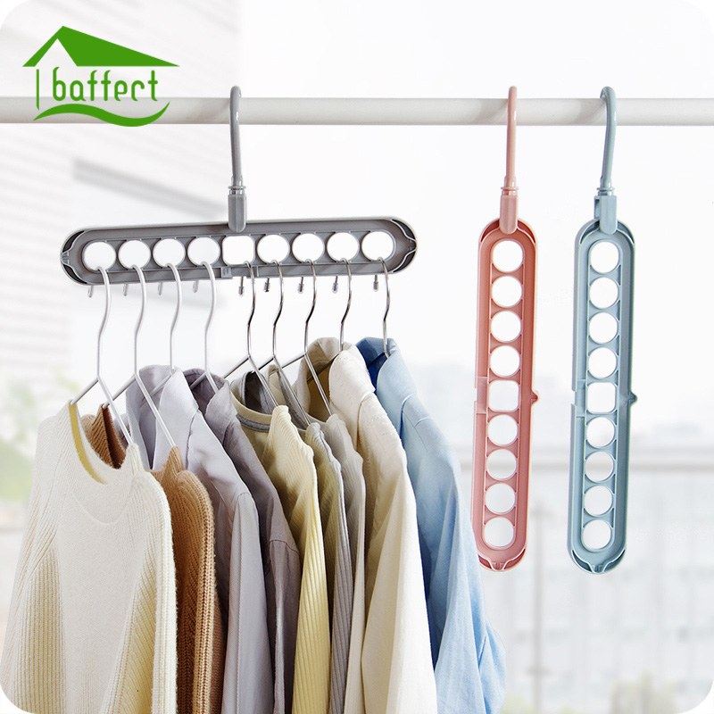 Storage Hanger Rack Clothes Space Saver Foldaway Folding Magic Hangers for Clothes Outdoor Closet Organizer