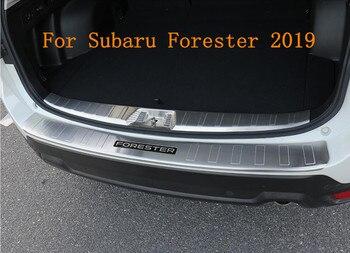 JINGHANG سيارة الخلفية جذع صفائح لعتبة باب السيارة حراس دخول البضائع خطوة لسوبارو فورستر 2019