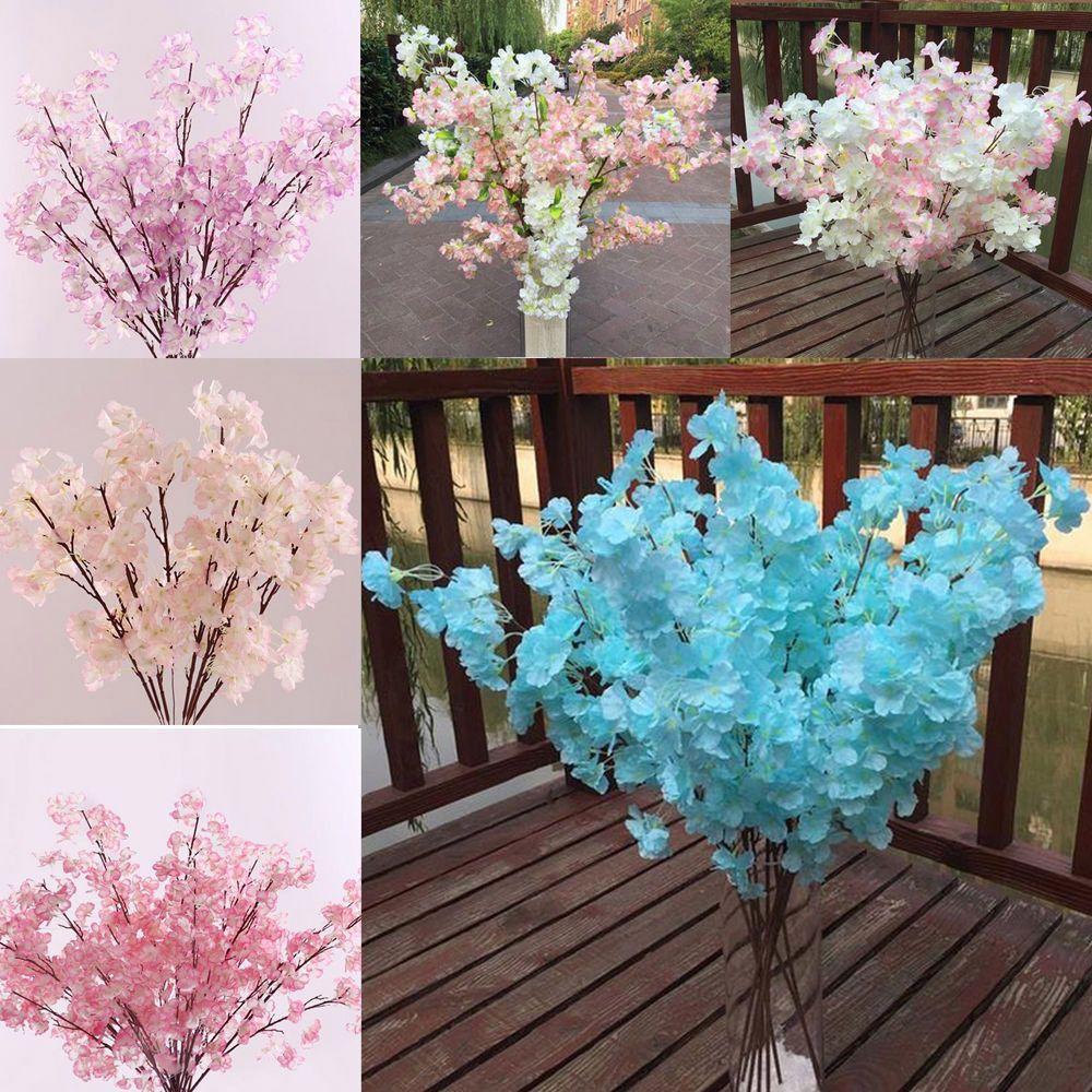 Rami Di Pesco Finti acquista i plastica plastica fiori di ciliegio artificiali