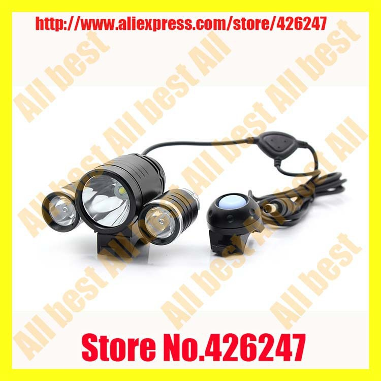 Wholesale Price--TrustFire TR-D003 Cree XML-T6+2*XPE-R2 1800LM 3-Mode Bicycle Light(4x18650 battery) фонарик trustfire df007 xml 2 650lm magswitch tr df007