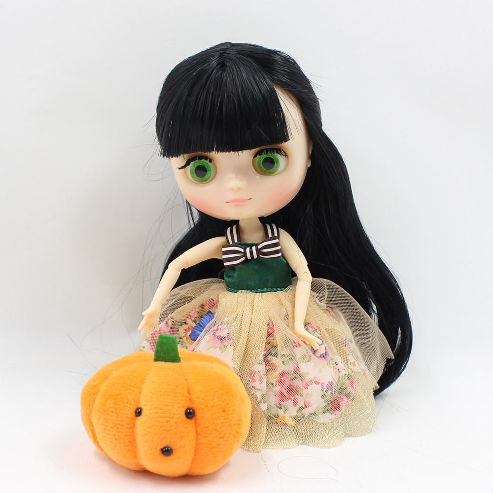 Middie Blythe Doll Jointed Body Black Hair 20cm 2