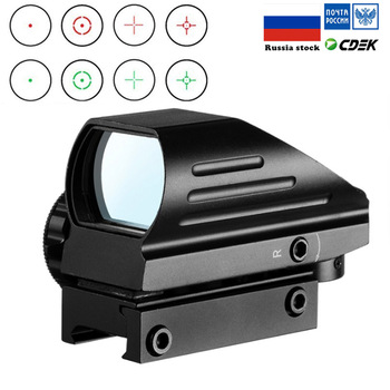 Tactical Reflex Red Green Laser 4 Reticle Holographic Projected Dot Sight Scope Airgun sight Hunting 11mm/20mm Rail Mount AK c more style red dot sight railway reflex for ris rail 4 color options free shipping