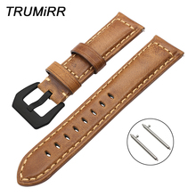 Italy Genuine Oil Leather Watchband for Fossil Q Founder Wander Crewmaster Grant