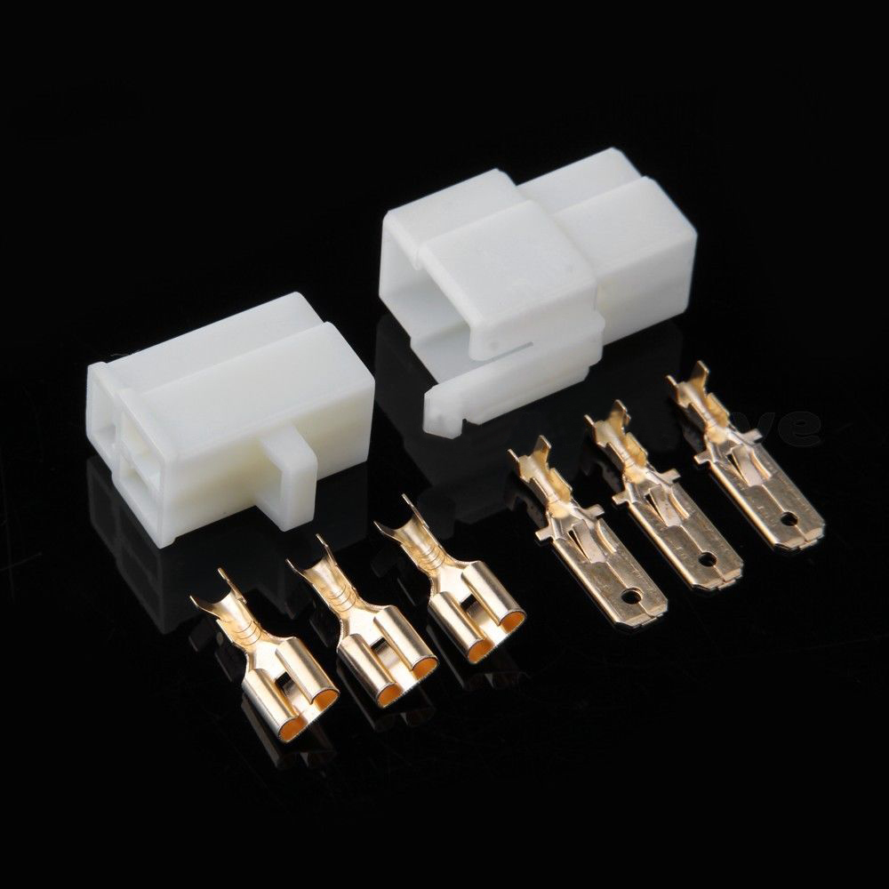 medium resolution of imc hot kit motorcycle car atv scooter boat male female 3 way connector 6 3mm terminal in connectors from lights lighting on aliexpress com alibaba