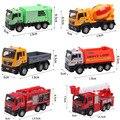 6 шт./лот 1:55 металл и пластик инженерные машины конструкторы город работает грузовик игрушки для детей