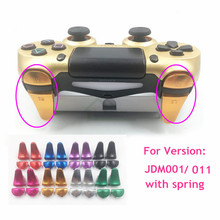 Customs Metal Aluminum L1 R1 L2 R2 Extender Extended Controller Trigger Buttons with Spring replacement for Playstation 4 PS4