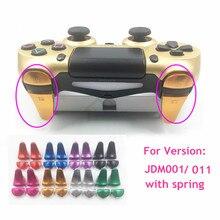 Di Alluminio del Metallo della dogana L1 R1 L2 R2 Extender Estesa Controller Trigger Bottoni con Molla di ricambio per Playstation 4 PS4