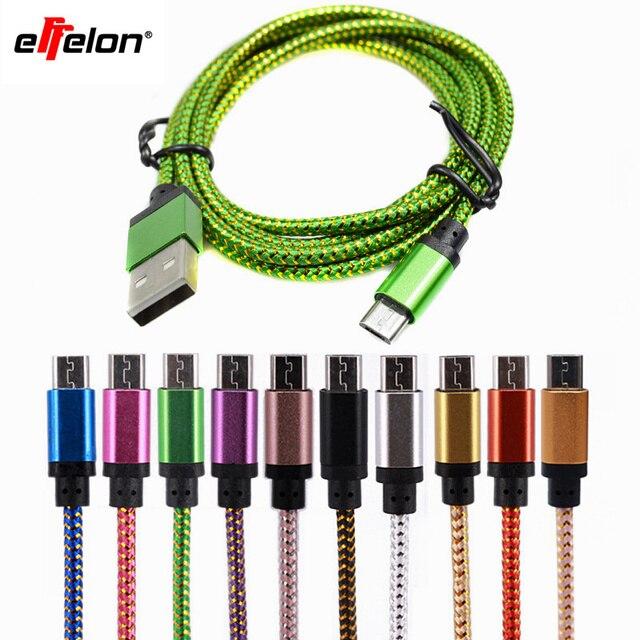 Effelon 25 cm/1 Mt/2 Mt/3 Mt Micro Usb-kabel Ladegerät Daten Sync Nylon USB kabel Für Android Smartphone für tablet PC