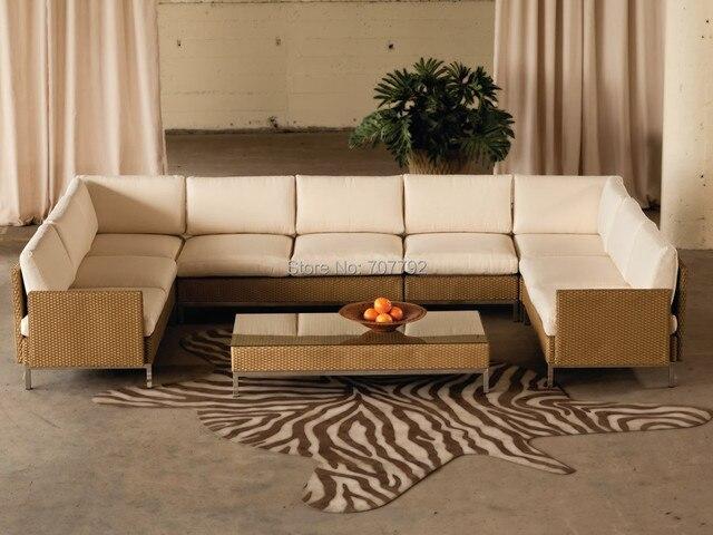 2017 Hot Patio Modern Furniture Designer Rattan Element 7 Piece Turkish Sofa