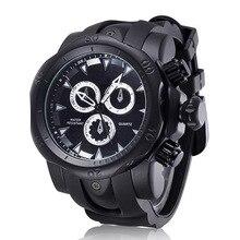 2016 de Oro de Lujo Reloj de Goma Reloj Deportivo Relogio masculino Moda Casual Hombres Reloj de Cuarzo Horas Reloj saat