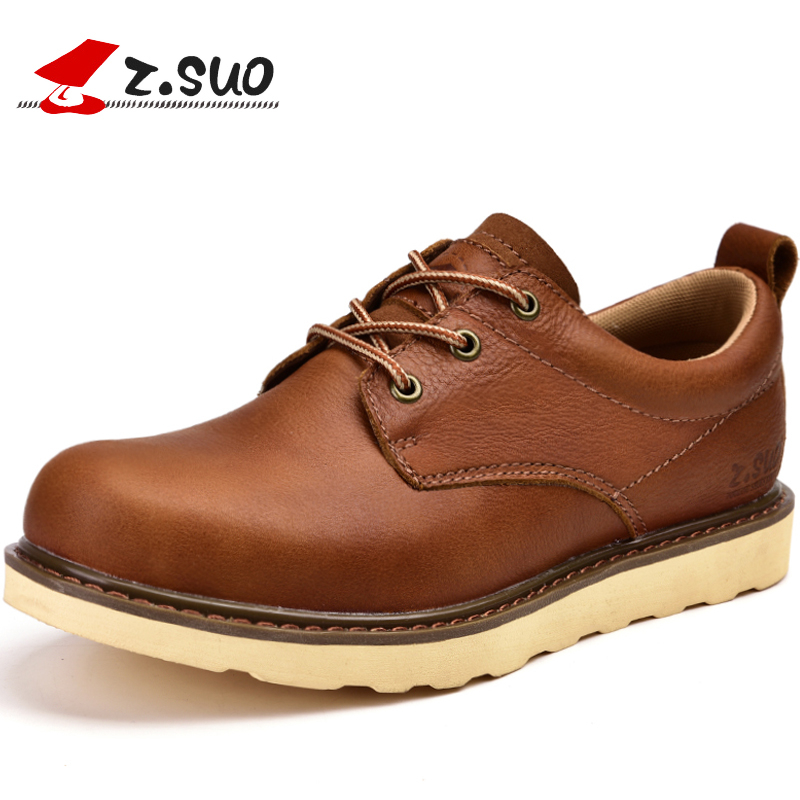 British Style Men Genuine Leather Casual Shoes Lace Up Work Shoes Men's Martin Shoes Oxfords Flats Zapatillas Hombre XK052414 fashion british style men s genuine matte leather boot shoes casual lace up male martin ankle chunky booties homme s4472