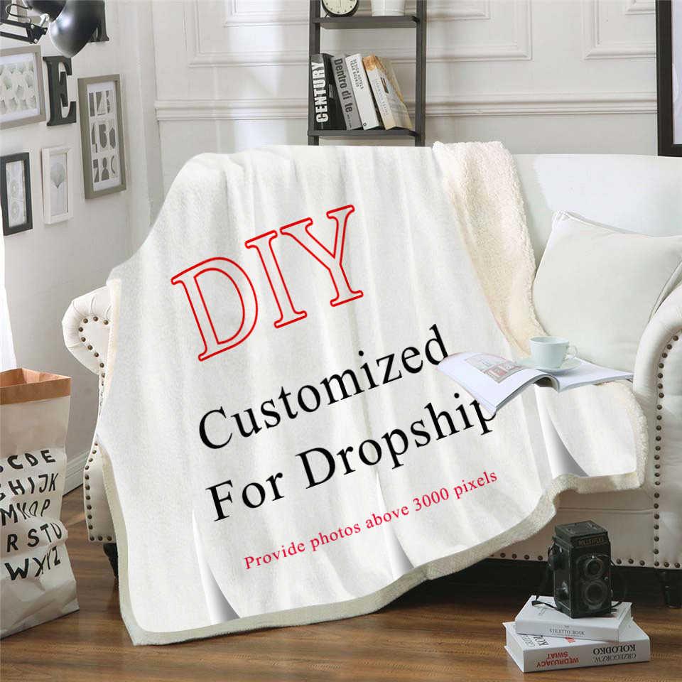 Personalizado o pesadelo antes do natal flanela lance cobertor leve aconchegante sofá cama cobertores super macio tecido dropship
