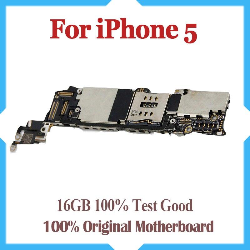 16 GB débloqué Original pour iPhone 5 carte mère, 100% test pour iPhone 5G Carte Mère avec puces, livraison gratuite