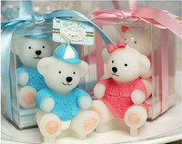 Baby shower favor candle Children's birthday party candles sweater animal bears small candle gift wedding decoration 20pcs/lot