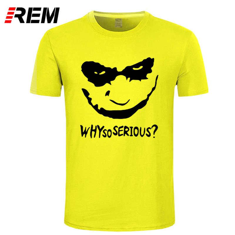 REM Новая летняя Джокер Хит футболка Леджер для мужчин повседневная почему так много джокер футболка Топ футболки Горячая Лето Бесплатная доставка