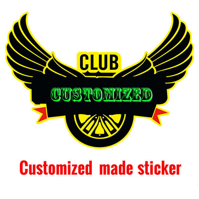 Professional customized make car sticker,Auto clubs car styling stickers  and decals,wholesale free