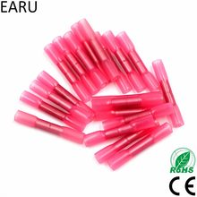 50 pcs rouge 22-18 AWG 0.5-1.5mm thermorétractable bout à bout câble fil sertissage connecteur bornes électriques connexion rapide connecteur BHT1.25(China)