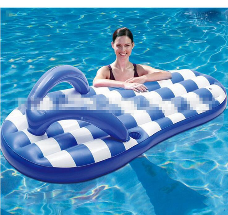 Manufacturers wholesale water creative floating row simulation of PVC slippers floating row Inflatable water floating row Blu909