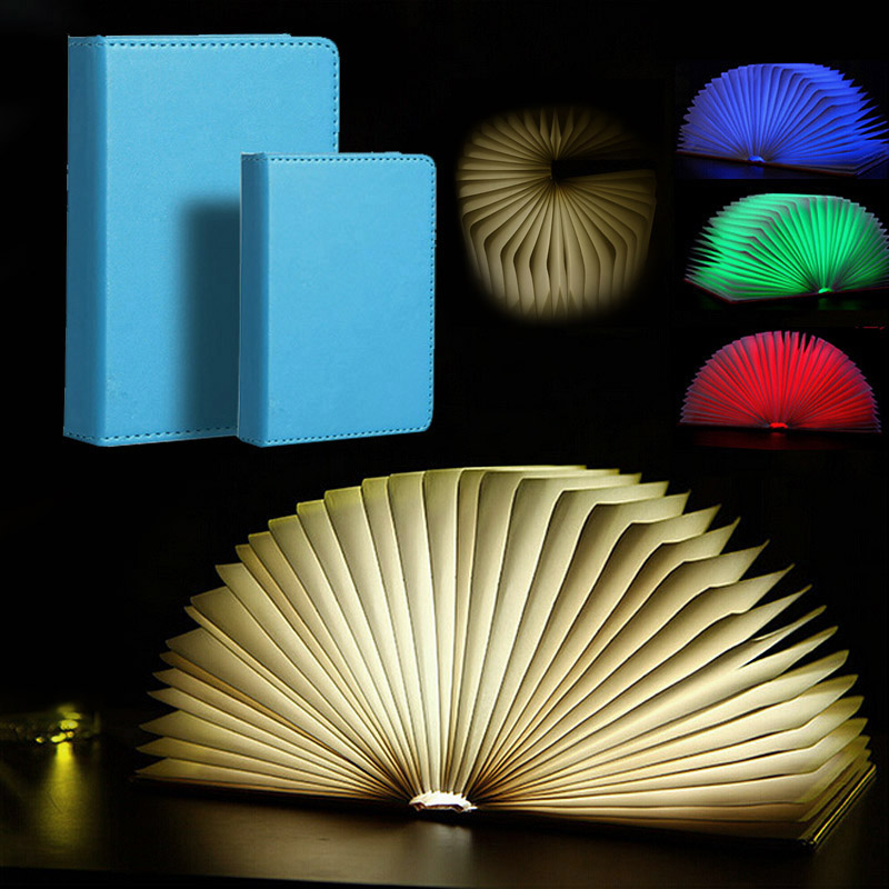 New Creative Mini Flip Books Rechargeable LED Folding Book Night Light Chandelier Wall Lamp Bedside Lamp Decorative Lamp HR creative flip book page led nightlight