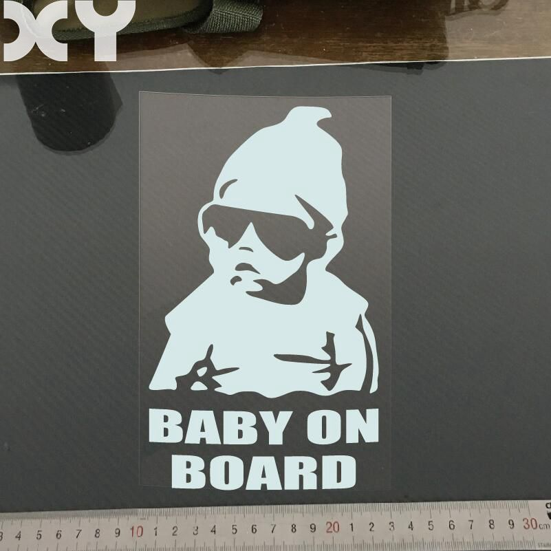 Baby on Board Car Styling Car Accessories Reflective Type Car Stickers Motorcycle Sticke ...