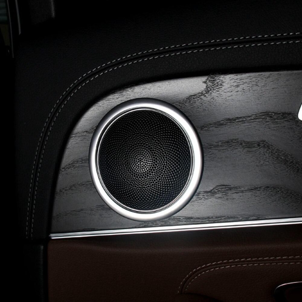 MONTFORD pour Mercedes classe E Benz W213 E200 E300 E400 2016 2017 ABS mat haut-parleur porte de voiture