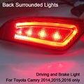 386D Camry Volta Cercado Luzes de Condução de Luz e Luz de Freio conduziu a luz do carro para Toyota Camry 2014 2015 2016