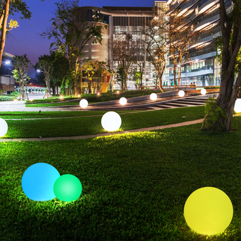 Led Landscape Lighting Controller: LED Ball Garden Light USB Charge Remote Control Decorative