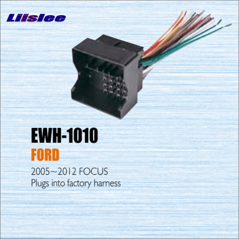 Plugs Into Factory Harness For Ford Focus 2005~2012 - Radio Power Wire Adapter Stereo Cable / Male DIN To ISO