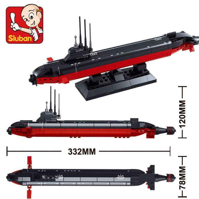 193pcs Sluban Nuclear Submarine