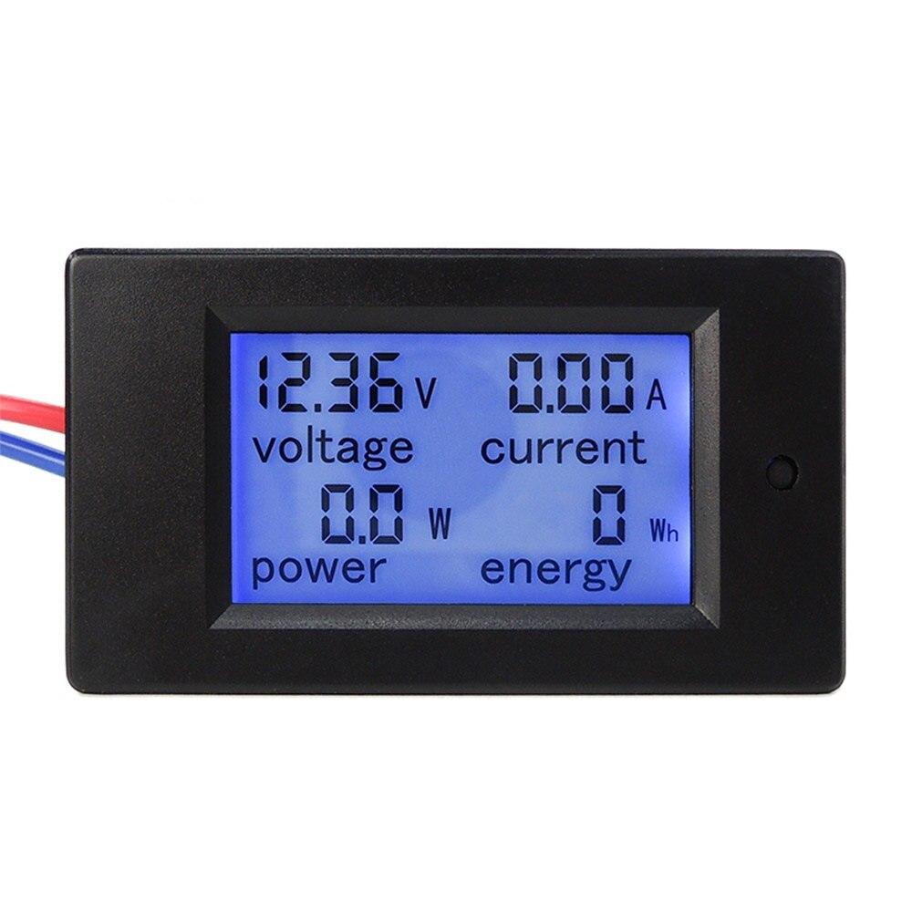 Nuevo DC 6.5-100 V 0-20A pantalla LCD Digital voltaje de corriente medidor de energía multímetro voltímetro amperímetro con 20A derivación de corriente