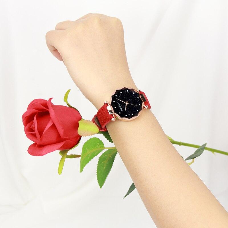relojes mujer 18 Luxury Brand Gogoey Women Watches Personality romantic starry sky Wrist Watch Rhinestone Design Ladies Clock 23