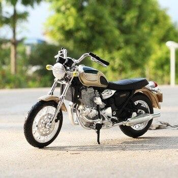 Escala 118, Maisto Triumph Thunderbird, coches de carreras, Mini motocicletas, modelos de vehículos, juguetes de oficina, regalos para niños