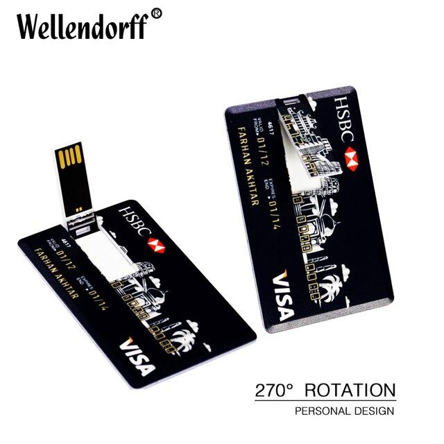 Credit Card Shape 4gb 8gb 16gb 32gb 64gb USB Flash Drive Pen