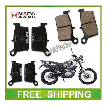 XY400GY SHINERA X5 front rear brake pads 400CC dirt bike motorcycle accessories free shipping