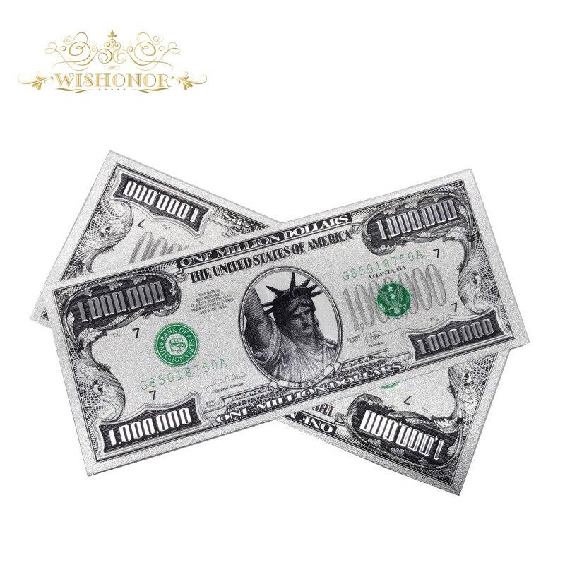 Лидер продаж, банкноты на 1 миллион долларов США, бумажные банкноты с золотом, сувенирные монеты для коллекции (с одной стороны)