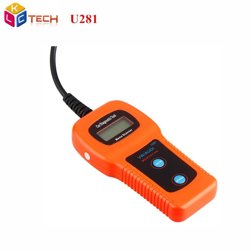 Best Quality Code Reader U281 OBD2 CAN BUS Code Scanner U281 OBDII  Diagnostic Tools Engine Car Diagnostic Scanner