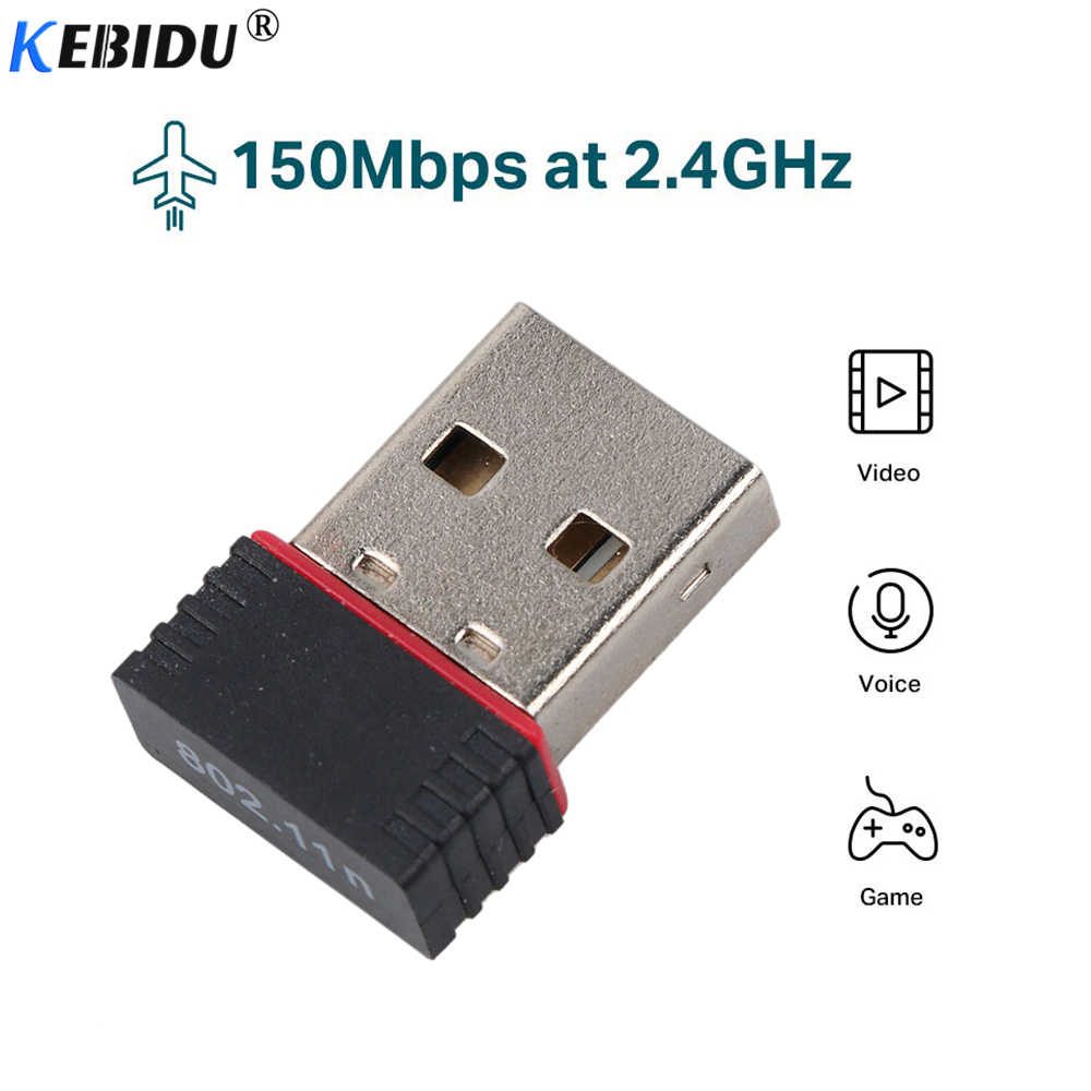 kebidu MT7601 150Mbps USB WiFi Adapter Wireless Dongle Ethernet Network Card 802.11 n/g/b For Win 7 8 10 XP Laptop PC