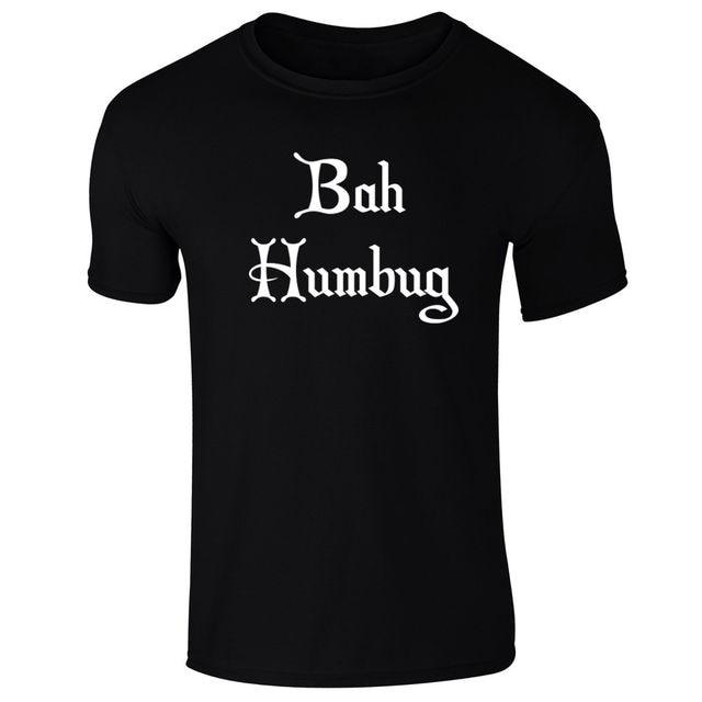 e681327a Mens Bah Humbug Scrooge Grumpy Anti Christmas Slogan T-shirt S-XXL New T  Shirts Funny Tops Tee New Unisex Funny Tops