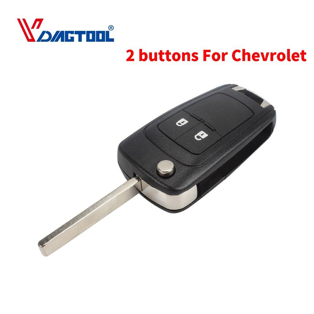 VDIAGTOOL Flip Folding 2 Buttons Modified Remote Car Key Shell Car Key Blank Fob For CHEVROLET Spark Key Left Blade Auot Key
