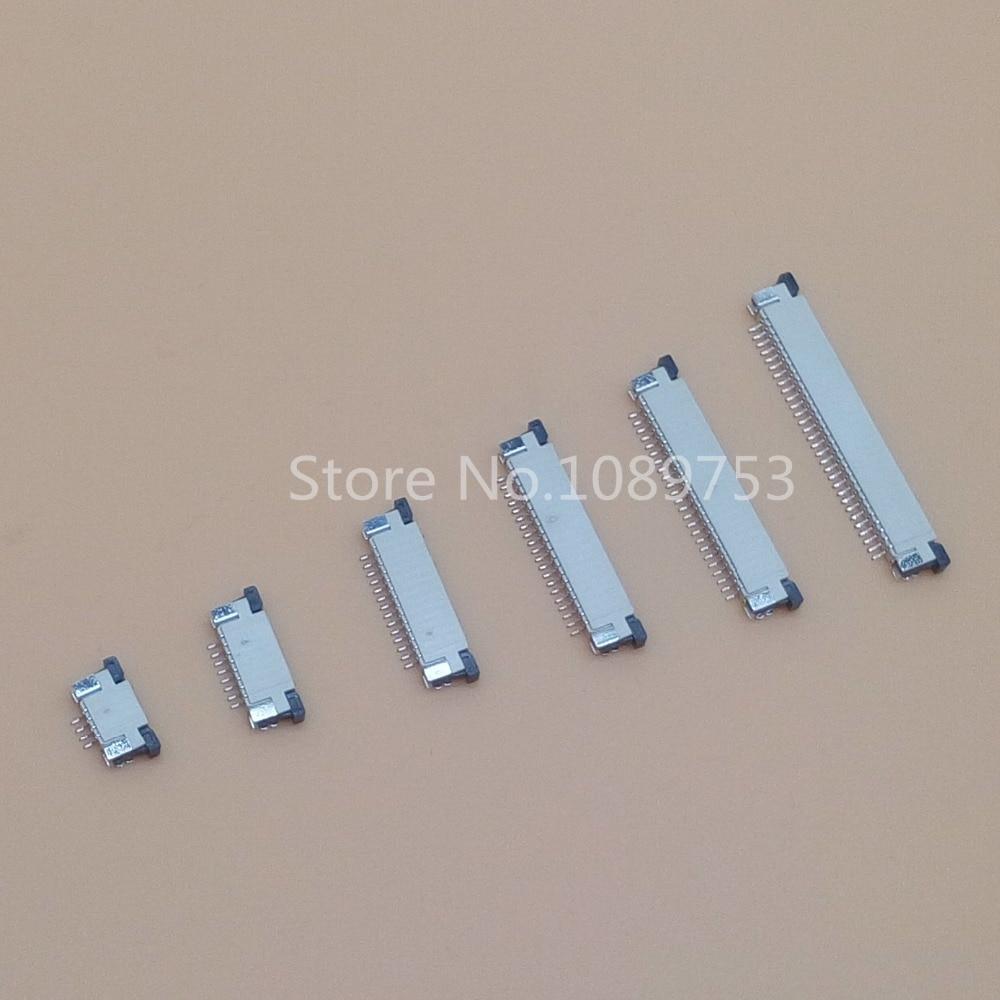 10 шт. FFC FPC коннектор 1,0 мм 4 Pin 6 8 9 10 12 14 16 18 20 22 24 26 30P верхний контактный прямоугольный SMD / SMT ZIF