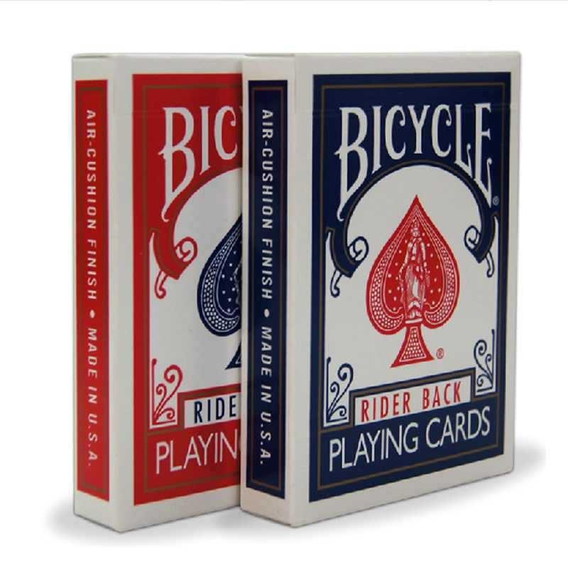 Bicicleta Original Poker 1 cubierta precio rojo o azul bicicleta Regular jugando tarjetas jinete a 808 y estándar de sellado cubiertas tarjeta mágica