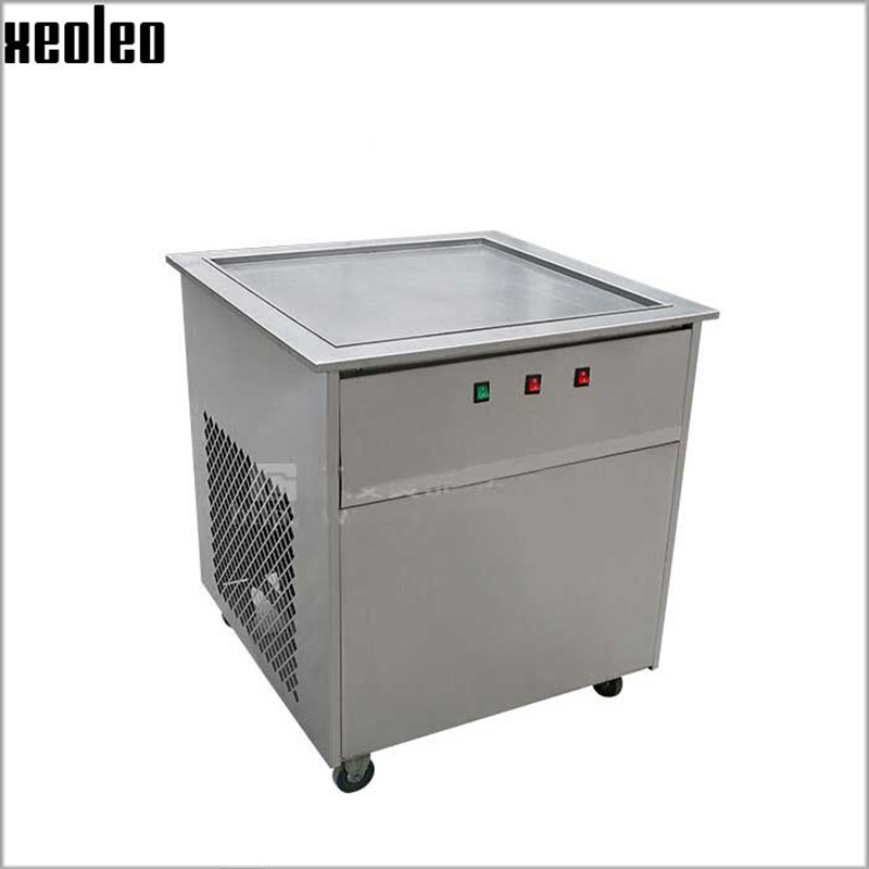 Xeoleo New Commercial Fried Ice Cream Machine Make Roll Ice Cream Ice Frying Machine Roll Roll Ice Cream Makers edtid new high quality small commercial ice machine household ice machine tea milk shop